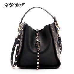 Echtes Leder Berühmte Marke Rivet Crossbody Taschen Für Frauen Messenger Schultertasche Luxus Handtaschenfrauen-designer Weibliche
