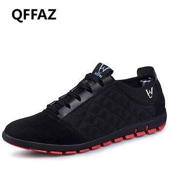 QFFAZ 2018 nowy wysokiej jakości mężczyzna buty w stylu casual wiosna/lato oddychające męskie tenisówki mieszkania Zapatillas Hombre duży rozmiar 38- 47