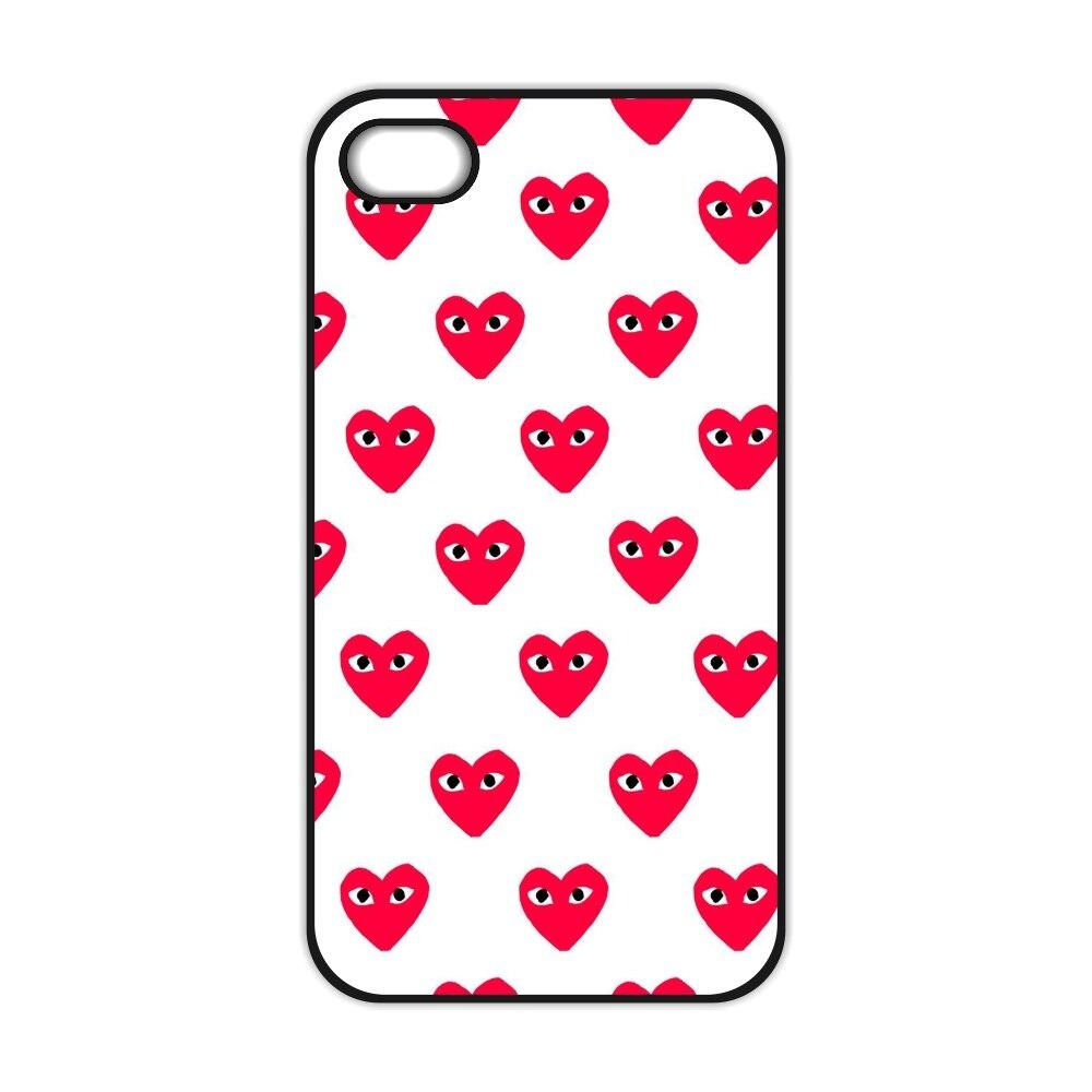 Comme Des Garcons Heart Case for iPhone 4 4S 5 5S 5C SE 6 6S 7 Plus Samsung Galaxy S3 S4 S5 Mini S6 S7 S8 Edge Plus A3 A5 A7