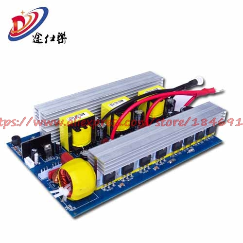 Free Shipping    Pure Sine Wave Inverter Board Car 12V24V48V To 220V2000W Household Power Outage DIY Solar Energy