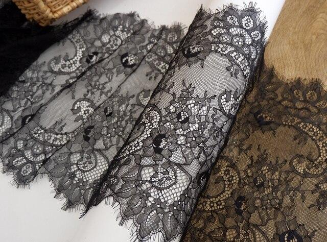 Voile ajouré en dentelle pour vêtements | Large, 40CM longueur 3 mètres, exquis cils dentelle, bricolage, tissu pour robe de mariée