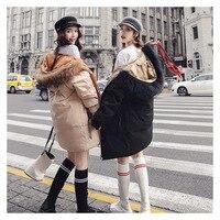 Простой и роскошный зимний женский пуховик длинный мех енота большой меховой воротник толстый с капюшоном Женское зимнее пальто куртки