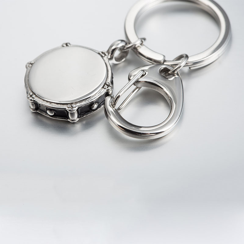 Drum Stainless Steel Keychain Rock And Roll Music Jewelry