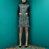 Новая Англия Ленточки ткань платья Осенне зимняя Дамская обувь Для женщин s рукавов Ретро платья