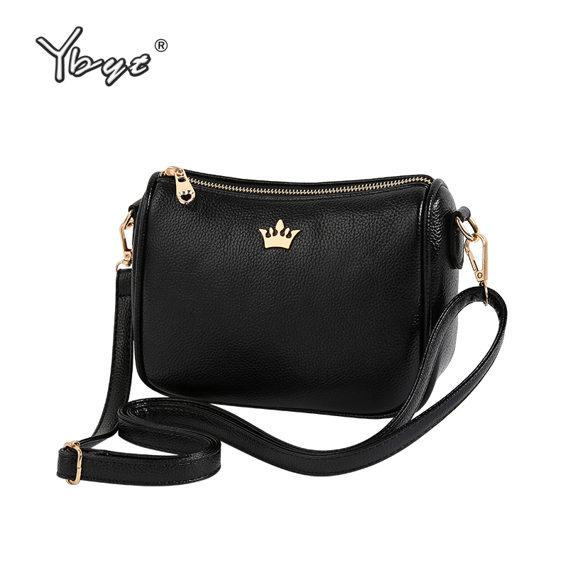 купить YBYT brand 2018 new PU leather women satchel small shopping bag ladies casual package female shoulder messenger crossbody bags по цене 560.3 рублей