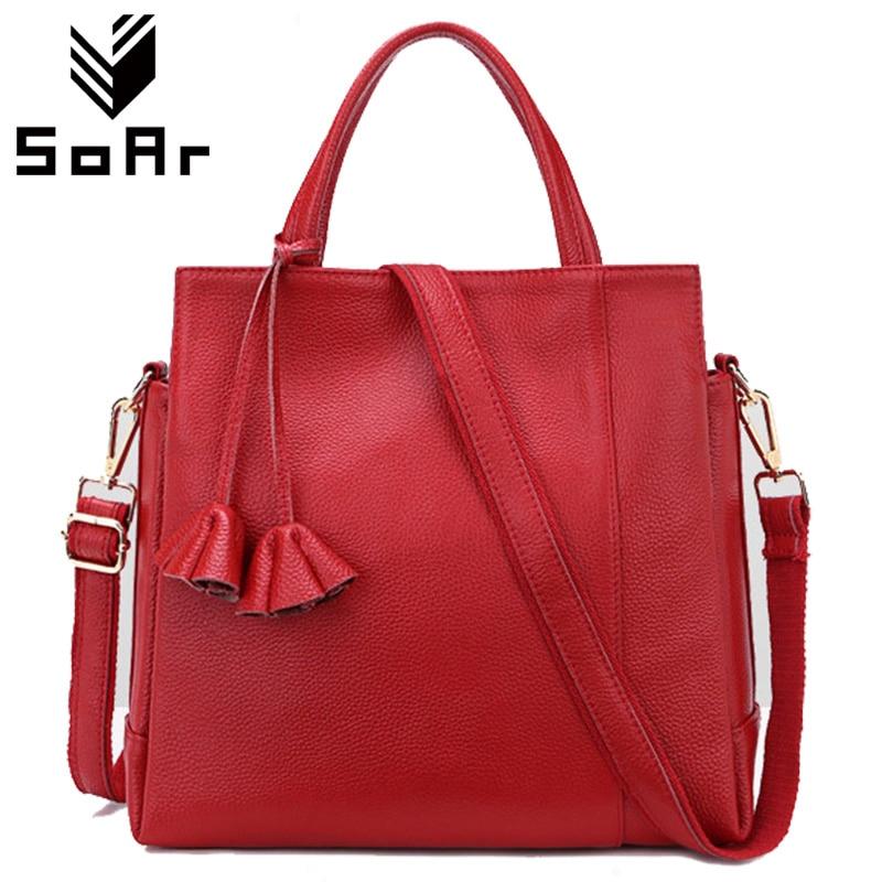 SoAr New Arrival torba kobieca z prawdziwej skóry krowy znany projektant marki torby skórzane damskie torebki wysokiej jakości kwiatów torby damskie na zakupy w Torby z uchwytem od Bagaże i torby na  Grupa 1