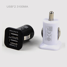 Dupla Porta USB Carregador de Carro 3.1A Adaptador de Carga Rápida para IPhone Samsung C07