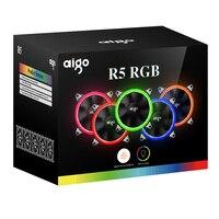 Aigo Fan C5 Fan Flash Cooling Fan Computer Cooling Fan Glare RGB 12 Cm Aurora Aperture