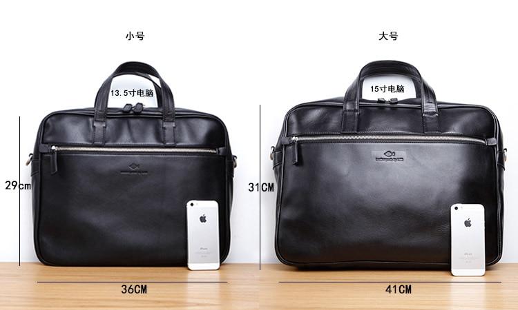 LAN genuine leather mens briefcases cow leather leisure business handbag high grade messenger bag