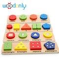 Игрушки для детей монтессори Деревянные геометрические соответствующие ПОСОБИЯ дети рано уроки сенсорные четырех частей головоломки family pack oyuncak