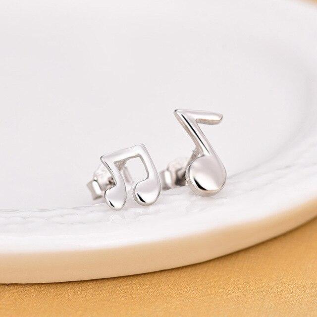 Модные музыкальные нотки серебряный цвет красивые миниатюрные