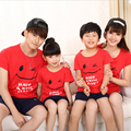 2016 Family Look Matching Clothing  Printed Short-sleeve T-shirt Shirts Outfits Clothes Top For Mother Daughter And Father Son