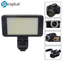 Mcoplus Mini Small Size 120 LED Dimmable Ultra High Panel Digital Camera Video Light works with Sony NP F970 F750 F550 Battery