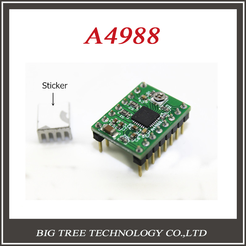 1pcs A4988 Stepper Motor Driver 3D Printer driver Module Reprap board with 1pcs Heatsink