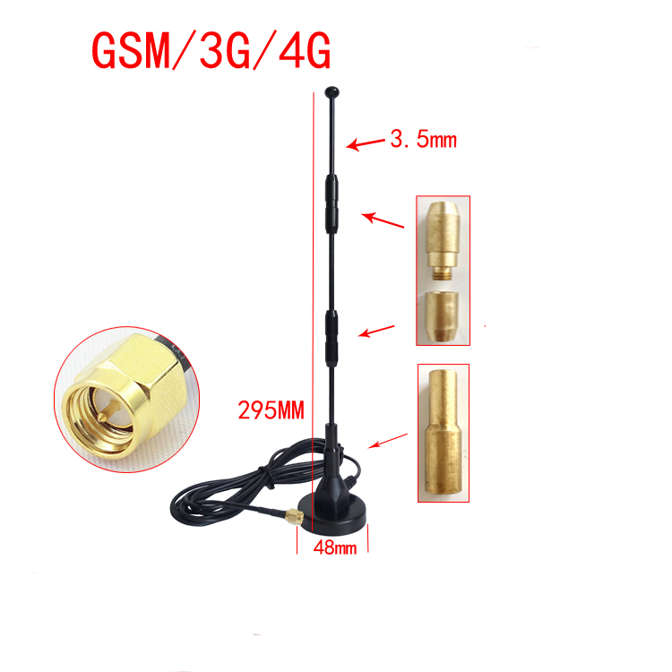 Herrlich Neue Gsm/lte/3g/4g Sucker Antenne Gprs Wcdma Dtu Modul Mit High Gain Und Omnidirektionale 30 Dbi Bequemes GefüHl