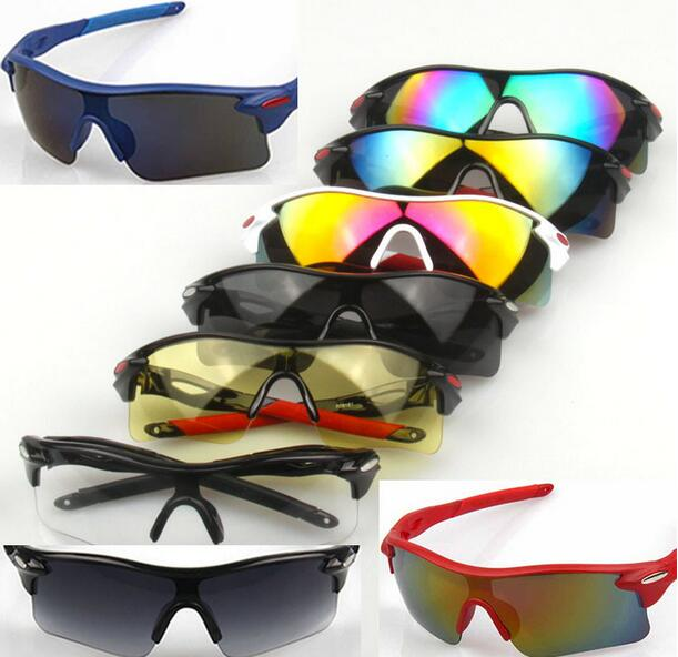 Anti-Explosion Sports Sunglasses Wind-Proof Outdoor Cycling Sunglasses Multicolor UV-Protection Hiking Eyewear