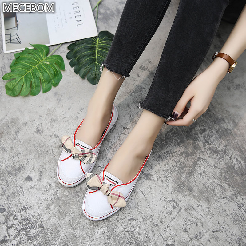 mocassins Mecebom cuir plat talon chaussures véritable 1161w en à blanches qFFBv