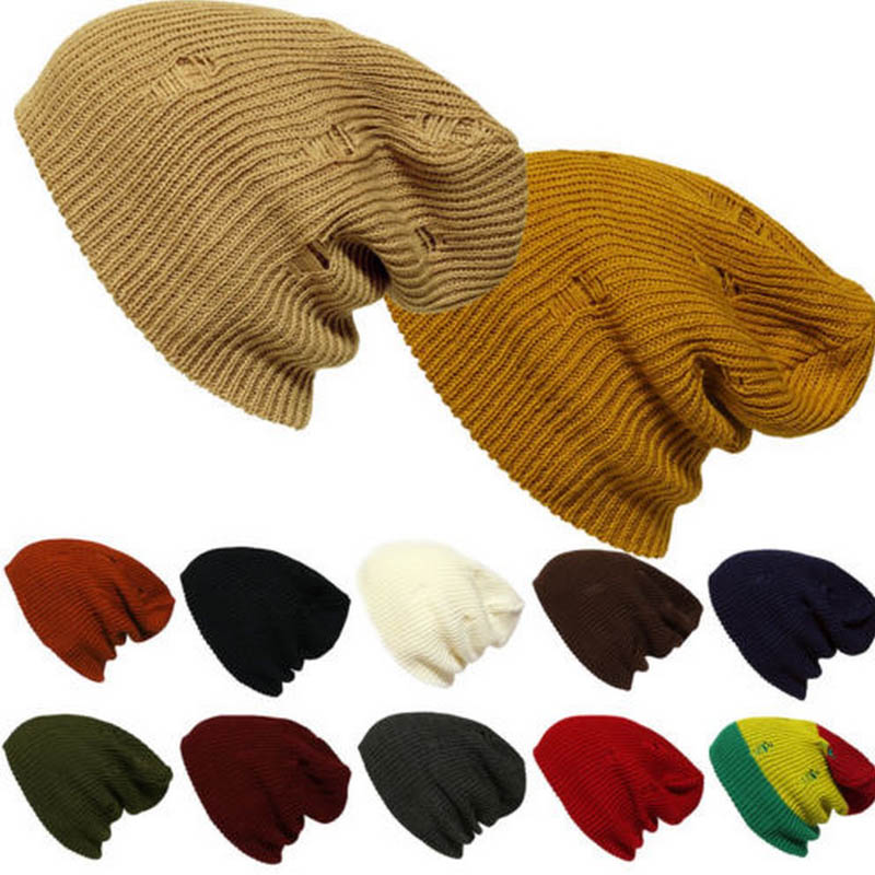 Novelty Autumn Winter Hats for Women Men Retro Personality Hole Knit Wool Cap Trendy Beanies Hat Warm Hedging Cap Beanies Gorro брюки accelerate tight