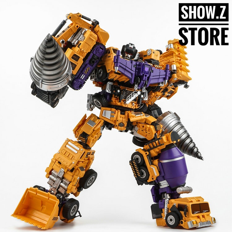 цена на [Show.Z Store] Generation Toys GT-06 Duron Drill Limited Edition Gift Set Devastator Transformation Action Figure