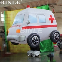 Personalized parade movable inflatable ambulance costume car replicas for party event