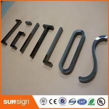 Niestandardowe chromowane litery ze stali nierdzewnej znak dla sklepu znak przedni tanie tanio shsuosai