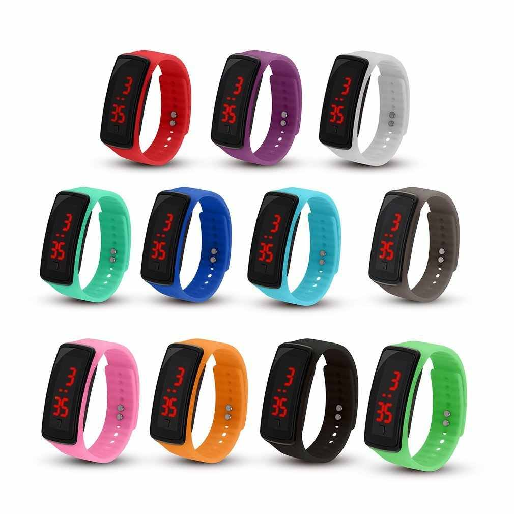 Silicone Kids Sports Watches LED Digital Screen Waterproof Watchband Dress Outdoor Wristwatch Relogio For Student Women Men