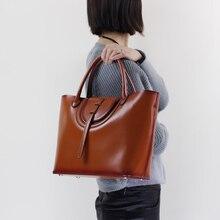 2017 Genuine Leather Women Handbag Cowhide Casual Totes Shoulder Messenger Fashion Women Bag  Big Capacity