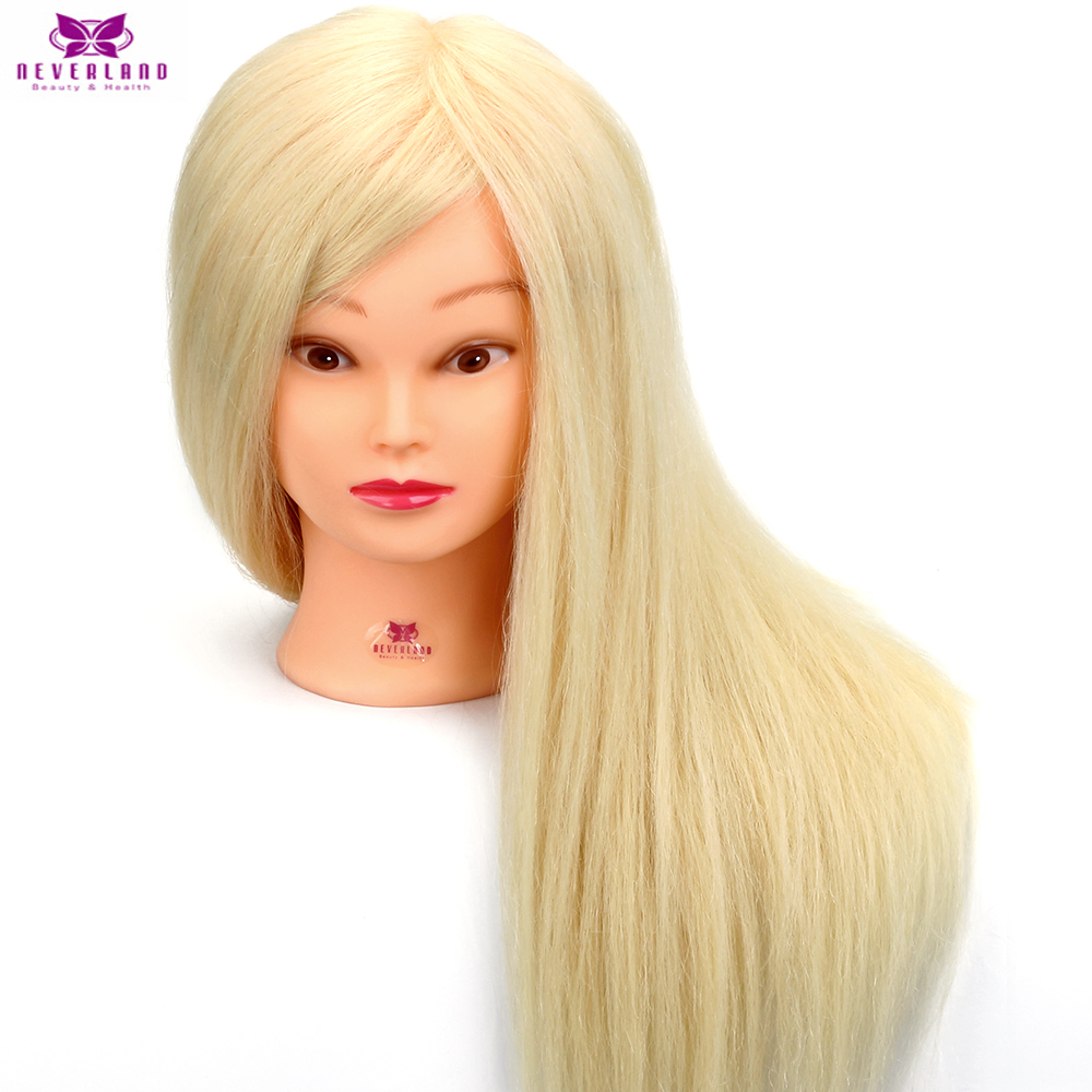 Salon Training Mannequin Head With 90% Real Animal Hair White Professional Hairdressing Dummy Doll Maniqui Heads For Hairstyles