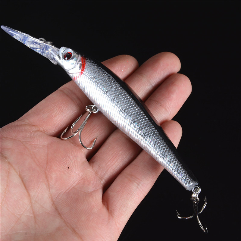 1 PCS 12.5cm 14g Japan Hard Bait Laser Minnow Fishing Lure Pesca Hook Fish Wobbler Crankbait Tackle Artificial Lures FD-36