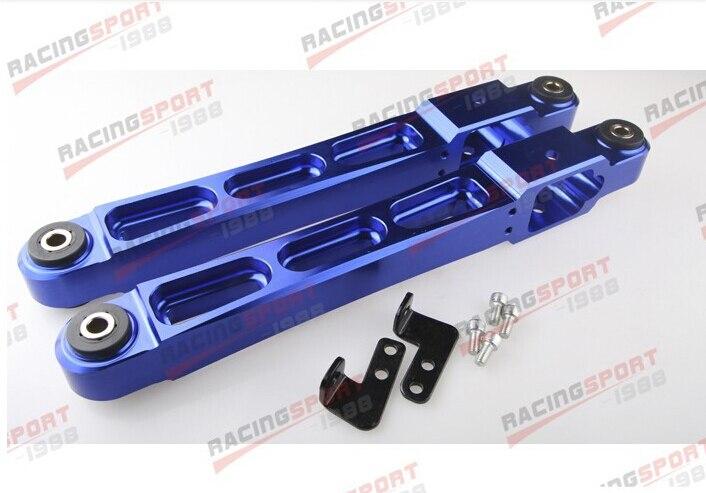 BLUE Rear Aluminium Racing Lower Arm Control for Mitsubishi EVO 1 2 3 4G63 neo chrome rear lower control arm lca for honda civic 2001 2005 e2c