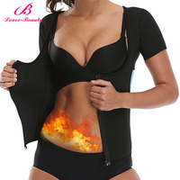 Lover Beauty Zipper Hot Sweat Waist Trainer Neoprene Body Shapers For Fat Burner Sauna Vest With