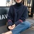 4xl plus big size sweater women spring autumn winter 2016 feminina thin thickening turtleneck sweater knit loose female A2341
