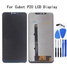 6.18 بوصة الأصلي ل Cubot P20 شاشة الكريستال السائل + محول الأرقام بشاشة تعمل بلمس ل Cubot P20 شاشة عرض LCD استبدال طقم تصليح