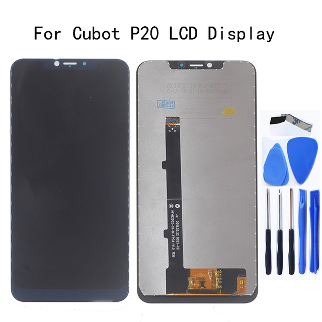 Cubot p20 lcd 디스플레이 + cubot p20 스크린 lcd 디스플레이 교체 수리 키트 용 터치 스크린 디지타이저 용 6.18 인치 오리지널