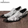 Classic Design Genuine Leather Mens Dress Shoes Crocodile Print Oxford Shoes for Men Party Oxfords Formal Wedding Shoe Man