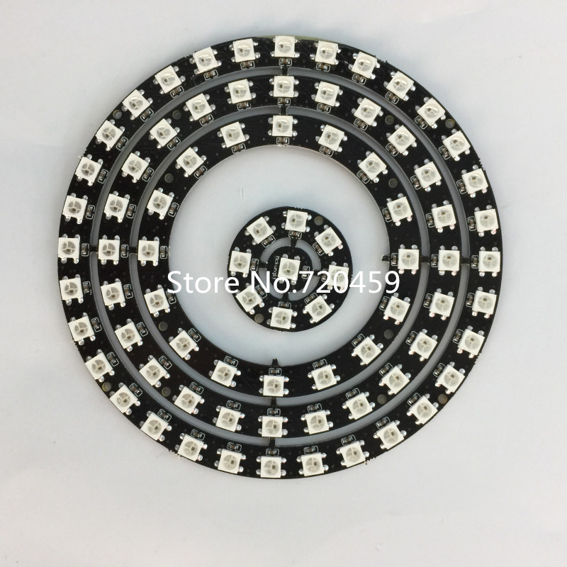 LED Built-in Full-Color Driving Lights Circle 5V 2812B phantom ring built-in IC magic circle outer diameter 10-170mm 6924 magic ring phantom impregnable fortress magic set white blue