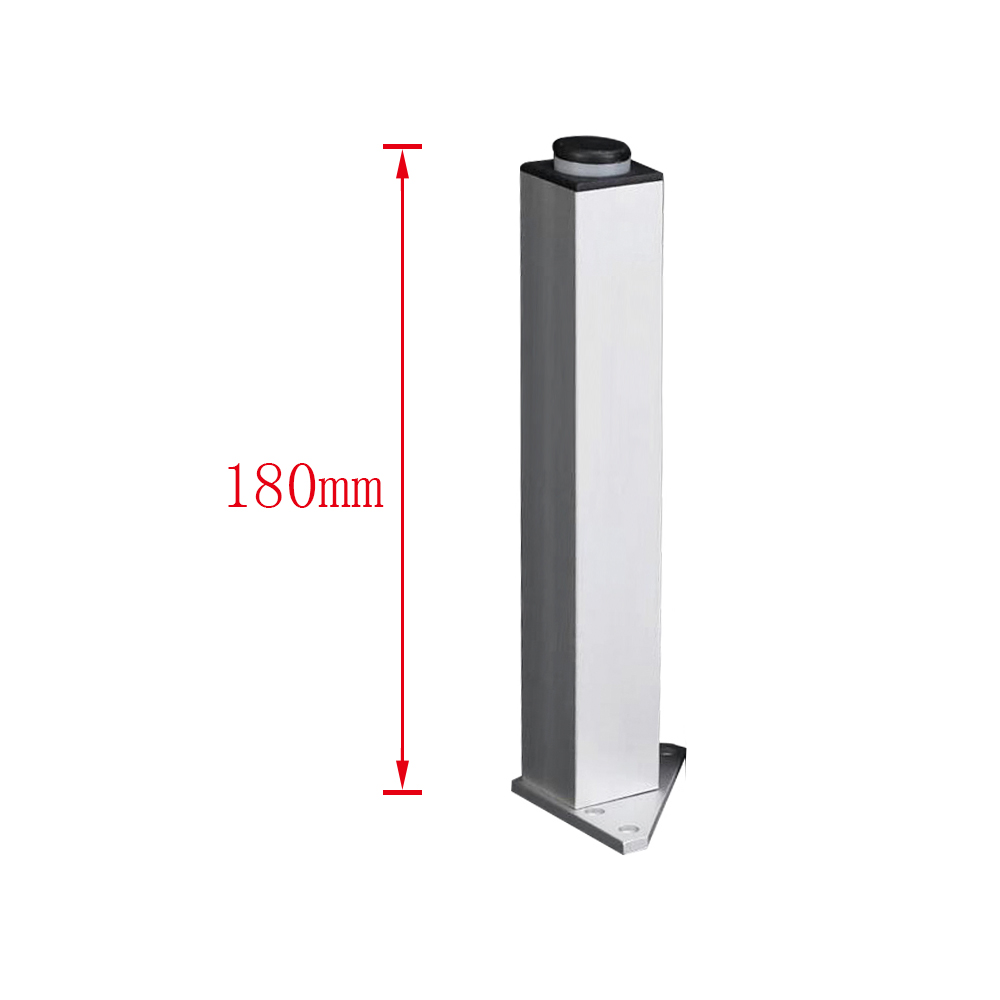 1PCS 180mm Adjustable Aluminum Alloy Silver Legs Square Furniture Legs Cabinet Sofa Feet