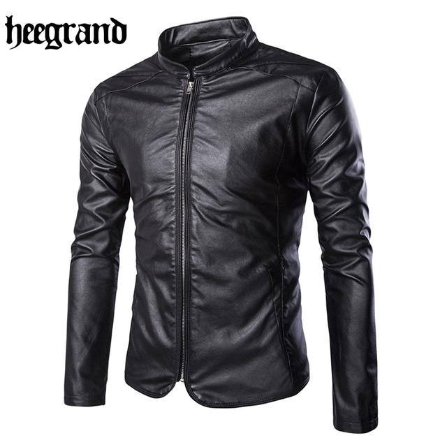 Hee grand 2017 nueva primavera de la moda breves hombres motocycle chaquetas sólido ocasional delgado masculino de la pu abrigos mwp327