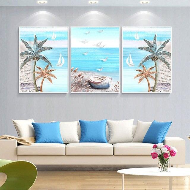 Trinidad de BRICOLAJE Pintura Diamante 5D punto de Cruz Beach ...