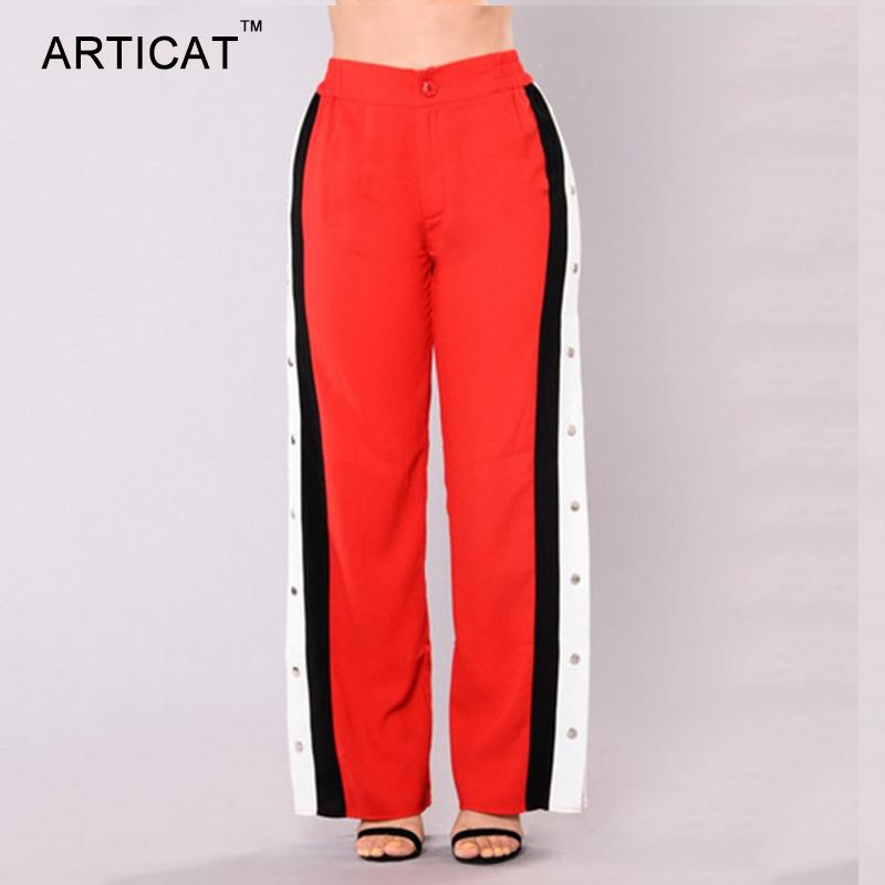HTB1hCvvSXXXXXa1XXXXq6xXFXXXW - Wide Leg Pants Side Split Women Pants High PTC 153