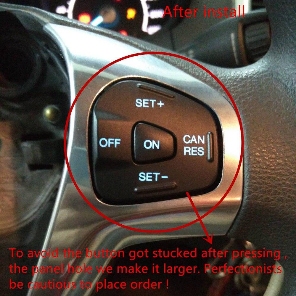 Volant cadre modifié interrupteur de contrôle de vitesse Kit de bouton de régulateur de vitesse pour Ford Fiesta MK7 MK8 ST Ecosport 2013 - 4