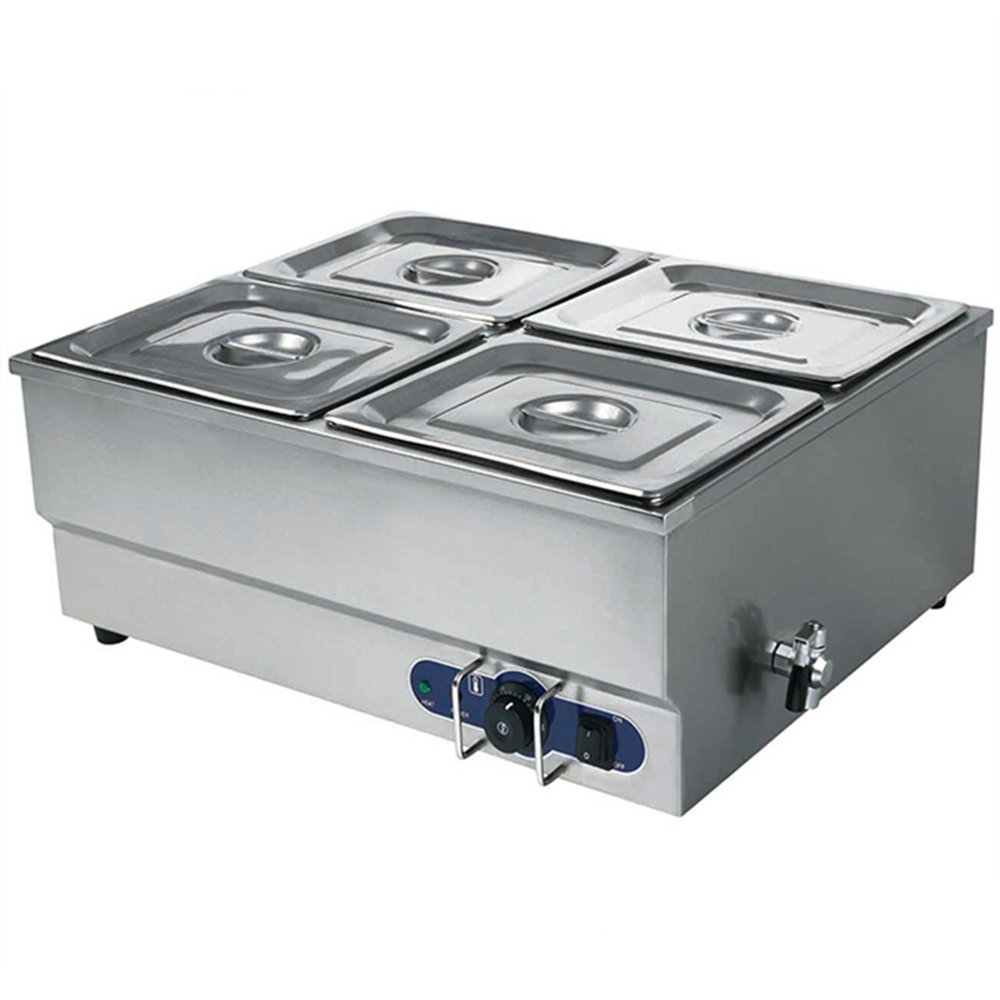 High Efficiency Electric Bain Marie Western Kitchen Equipment High Quality Countertop Electric Food Warmer