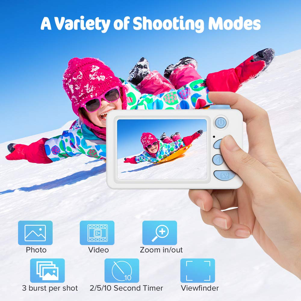 Image 3 - Digital Kids Camera Cute Cartoon Mini SLR Point Shoot Camera For Children Birthdays Gift CMOS 2inch Full HD Kids Boys Camcorders-in Point & Shoot Cameras from Consumer Electronics