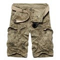 Hot! high quality Fashion brand mens shorts casual wear Camouflage army green Military Shorts No Belt