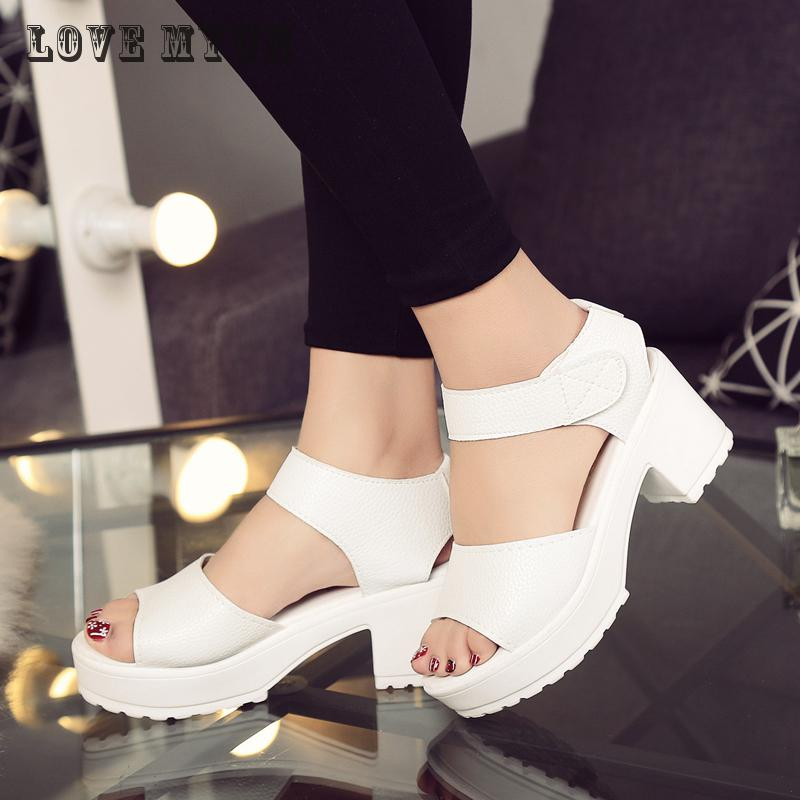 2017Summer Fashion Women Sandals Women Platform Flat Sandals Rubber Sole Women's Wedges Open Toe Sandals High-heeled Shoes Woman high quality fashion women sandals flat shoes summer pee toe sandals indoor&outdoor leisure shoes dropshipping ma31