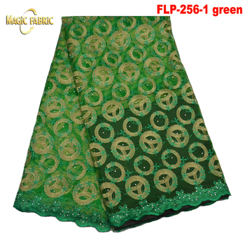 Newest French Lace Fabric African Net Laces Fabrics With Stones African French Tulle Lace Fabrics For Women Dress   FLP256