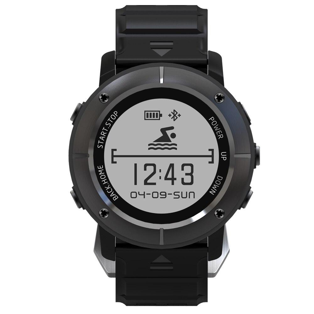 Nova Uwear UW80 1.2 ''OLED V4.0 Bluetooth GPS Relógio Inteligente Esporte Ao Ar Livre de Aço Inoxidável 10 M À Prova D' Água Chama Mensagem lembrete.