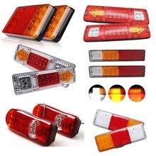 Yait 2 шт. водонепроницаемый светодиодный задний светильник s задний светильник DC 12 В 24 В для прицепа грузовика лодки автомобиля Стайлинг Предупреждение указатель поворота светильник s