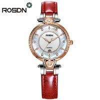 ROSDN Luxury Watches for Women Gift Set Classy Feminine Wrist Watch Sapphire Crystal Dress Watches Women Relogios 50M waterproof