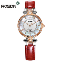 ROSDN Luxury Watches for Women Gift Set Classy Feminine Wrist Watch Sapphire Crystal Dress Watches Women Relogios 50M waterproof